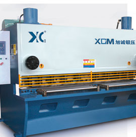 QC11K series numerical control hydraulic brake type plate shearing machine